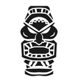totem idol icon simple style vector image