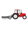 tractor works in a field vector image vector image