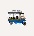 tuk tuk in thailand hand draw sketch vector image