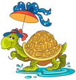 turtle with an umbrella vector image