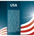 USA flag stars and Text Abstract Background vector image vector image