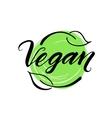 Vegan hand drawn brush lettering