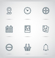 web icons set collection refuse image vector image vector image