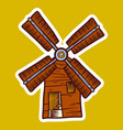 wind mill icon hand drawn style vector image