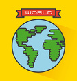 world icon vector image
