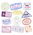 visa stamps bright design collection vector image