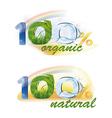 100 organic 100 natural vector image