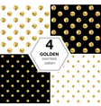 Set of four abstract bright background with golden vector image