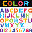 alphabet set 01 vector image