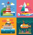 Different sea landscapes vector image