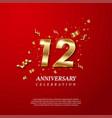 12th anniversary celebration golden number 12