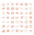 49 progress icons vector image vector image