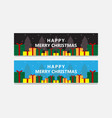 banner christmas set design elements vector image vector image