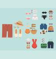 beachwear bikini cloth fashion looks beach vector image vector image