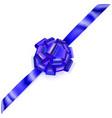big corner bow of shiny ribbon vector image vector image
