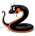 black snake cartoon vector image
