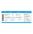 boarding pass ticket template airplane ticket vector image