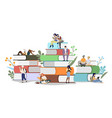 book festival concept flat style design vector image vector image