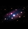 bright cosmos space backdrop vector image