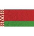 Byelorussia paper flag vector image vector image