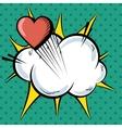 cartoon comic text pop art explosion vector image vector image