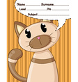 cat cartoons and background vector image vector image