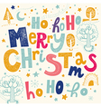 christmas with merry text vector image vector image