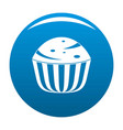 cup cake icon blue vector image