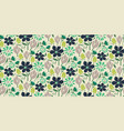 cutout paper style flower seamless pattern vector image vector image