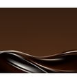 Dark chocolate wave vector image vector image