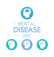 depression mental disease icon vector image