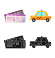 design of airport and airplane icon set of vector image vector image