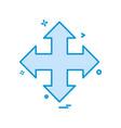 direction arrow icon design vector image