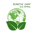 Earth day icon vector image