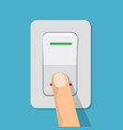 finger presses the button switch vector image vector image