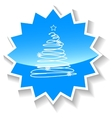 Fir-tree blue icon vector image vector image