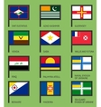 Flags flat set-17 vector image vector image