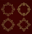 floral and geometric monogram frame vector image vector image