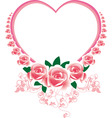 frame in the victorian style with roses and butter vector image vector image