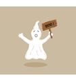 ghost with wooden table vector image