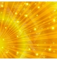 gold background with beams vector image