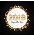 gold celebration 2018 new year label background vector image