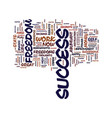 great freedoms of success text background word vector image vector image