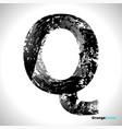 grunge letter q black font sketch style symbol vector image vector image