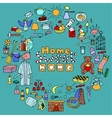 Hand drawn color Home set vector image vector image