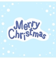 Hand drawn Merry Christmas on a blue background vector image