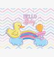 hello baby cartoons card vector image vector image