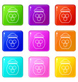 jar of honey icons set 9 color collection vector image vector image
