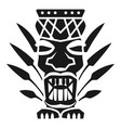 leaf tiki idol icon simple style vector image