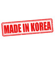 made in korea grunge rubber stamp vector image
